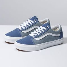 a974b5ea2f4d The Chambray Old Skool, the Vans classic skate shoe and first to bare the  iconic