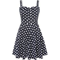 Izabel London Polka dot sweetheart dress ($26) ❤ liked on Polyvore featuring dresses, vestidos, 13. dresses., robes, blue, women, blue polka dot dress, spotted dress, sleeveless dress and sweetheart neckline dress