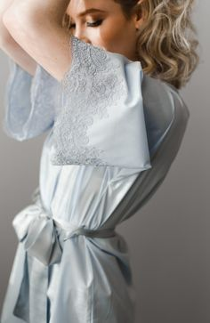 Alexandra Cotton Short Bridal Robe - Daphne Newman Design Feminine, romantic and effortlessly sexy, for the bride who is refined yet embraces the unpredictable. A chic and luxurious piece for your wedding day, or any day for that matter. Lingerie Outfits, Sexy Outfits, Women Lingerie, Lace Bridal, Bridal Robes, Lace Wedding, Wedding Dresses, Cute Sleepwear, Cotton Sleepwear