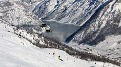 Livigno valley and lake