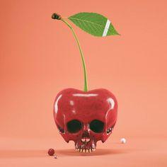 #cherry #cinema #c4d #cinema4d #octane #render #octanerender #photoshop #daily #3d #gfx #graphics #graphic #design #abstract #art #surreal #fruit #studio #shot #zbrush #realistic #teeth #skull #sculpture #leaf #organic #minimal #rsa_graphics by hoodass