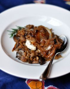 Recipe: Baked Mushroom Risotto with Caramelized Onions. Dutch oven recipe