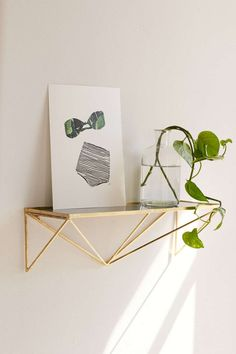Modern glass and metal shelf from Urban Outfitters
