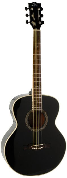 EKO Guitars 06217019 NXT Series Auditorium Acoustic Guitar - Black
