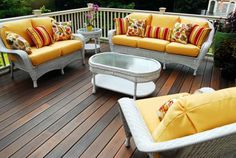 Key West all white patio seating group by South Sea Rattan.