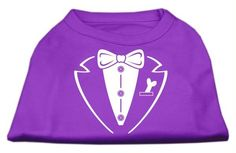 Tuxedo Screen Print Shirt Purple XXL (18)