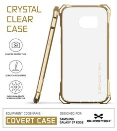 S7 Edge Case, Ghostek® Covert Gold Series for Samsung Galaxy S7 Edge Premium Impact Cover Screen Protector | Lifetime Warranty Exchange
