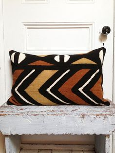 BOGOLAN Mud Cloth/ African Mudcloth Pillow cover by OSxN on Etsy, $65.00 16x24