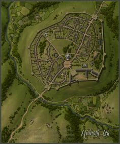 A website and forum for enthusiasts of fantasy maps mapmaking and cartography of all types. We are a thriving community of fantasy map makers that provide tutorials, references, and resources for fellow mapmakers. Fantasy Town, Fantasy City Map, Fantasy Castle, Fantasy Places, Medieval Fantasy, Fantasy World, Medieval Castle, Village Map, Pen & Paper