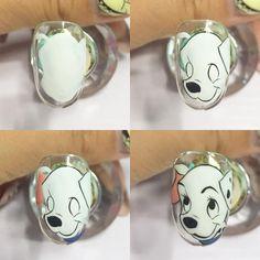 Nail Art Dessin, Disney Inspired Nails, Sculpted Gel Nails, Nail Art For Kids, Animal Nail Art, Nail Art Pictures, Dog Nails, Painted Nail Art, Toe Nail Designs