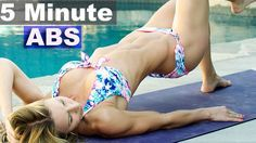 5 Minute Workout #38 - Bikini Abs and Glutes - YouTube