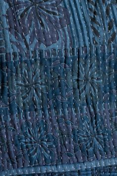 The colors are so layered & rich, and I LOVE the kantha stitch!