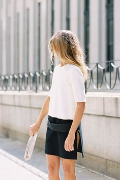 That split skirt...#Fashiolista #Inspiration