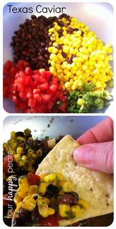 "Texas Caviar. YUM. One of my family's favorite recipes.   AKA ""Bean and Corns"""
