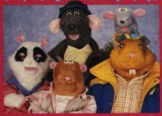 Roland Rat with Glenis the Guinea Pig,  Kevin the Gerbil, Errol the Hamster & Little Reggie.