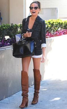 Chrissy Teigen struts her stuff in these super cute boots!