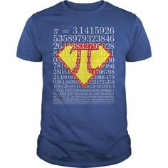 Awesome math gift for yourself Super Pi t-shirt tee mug necklace legging hat cap Physics T Shirts, Math Shirts, Funny Shirts, Pi Day Shirts, Mothers Day Shirts, Tee Shirts, Pi T Shirt, Geek Tech, Great T Shirts