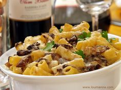 """Feast your eyes on some Tortiglioni, Mushrooms and Cheese on this """"Tasty Tuesday""""!"""