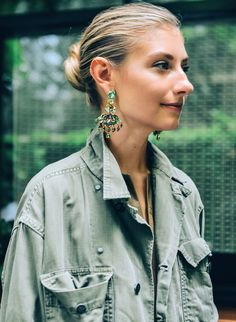 How It's Done: The Statement Earring We were so inspired by how fashion illustrator Jenny Walton wore our Mardi Gras earrings, we asked her to take our new jewelry collection for a spin… See more here.