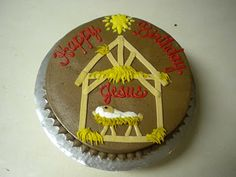 Christmas christ child game gifts cake