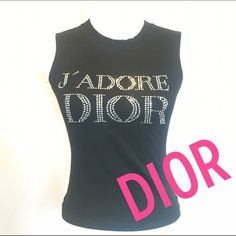 65284c9face20 Shop Women s Dior Black Silver size EU 8 US S Muscle Tees at a discounted