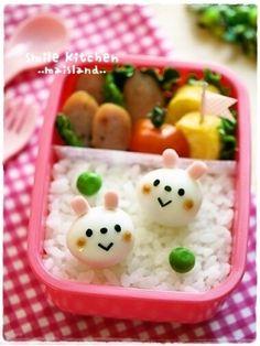 キャラ弁(キャラおかず)*うずらdeうさぎちゃん♪ by Mai*Mai|簡単作り方/料理検索の楽天レシピ