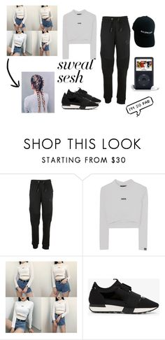 """""""sweat sweat"""" by wildawiing on Polyvore featuring Philipp Plein and Balenciaga"""
