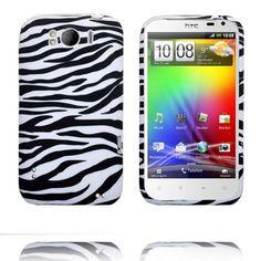 Zebra (Vit) HTC Sensation XL-Skydd