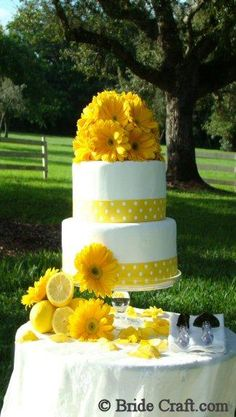 DIY Wedding Reception Decorations : DIY Wedding Cake Fresh Flower Cake Top