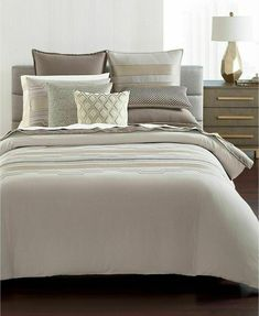 Hotel Collection Como King Duvet Cover, Created for Macy's - Gray King Pillows, King Duvet, Pillow Shams, Duvet Bedding, Linen Bedding, Bedding Sets, Bed Linens, Black Bed Linen, Mattress Brands