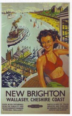 1950's British railways New Brighton Poster .17