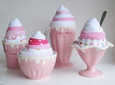 Because I love diaper cakes, but onesie ice cream cones are so much better.