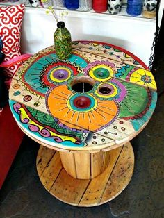 Recycled Cable Spool Table