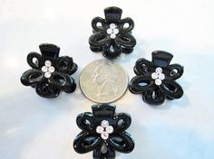 small mini flower hair claw clips with by LindasAccessories