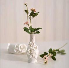 Furnishings fun three-dimensional flowers ceramic small vase decoration home decoration