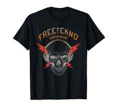 Free Tekno Underground Motiv ein muss für alle EDM, Techno, Rave, Hardtekk, Teknival fans die gerne im Club oder auf dem Festival party machen und feiern. Geiler Totenschädel mit Kopfhörern der Tekno 23 Hört, eine geschenkidee für Männer und Frauen! #tekno #freekeno #undeground #tshirt #streetwear #tekwear Rave, Techno Party, Festival Party, Edm, Streetwear, T Shirts For Women, Mens Tops, How To Wear, Men And Women