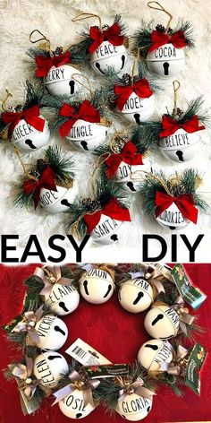 100 + Easy DIY Christmas Ornaments To Make And Sell For The Tree #ChristmasCrafts