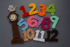 Hickory Dickory Dock Felt Story // Felt Board Stories // Flannel Board Story // Circle Time // Preschool stories by CocosFeltDesign on Etsy Flannel Board Stories, Felt Board Stories, Felt Stories, Flannel Boards, Felt Diy, Felt Crafts, Hickory Dickory Dock, Story Sack, Circle Time Activities