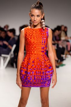 Lucian Matis S/S 2012  Appears to be woven of ribbon in different widths.  This would be fun to try.