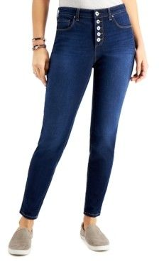 Style & Co 5-Button Curvy-Fit Jeans, Created for Macy's Curvy Fit, Skinny Jeans, Leggings, Button, Womens Fashion, Fitness, Pants, Tops, Dresses