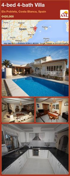 Villa for Sale in Els Poblets, Costa Blanca, Spain with 4 bedrooms, 4 bathrooms - A Spanish Life Central Heating, Open Plan Kitchen, Entrance Hall, Murcia, Seville, Luxury Villa, Malaga, Costa, Terrace