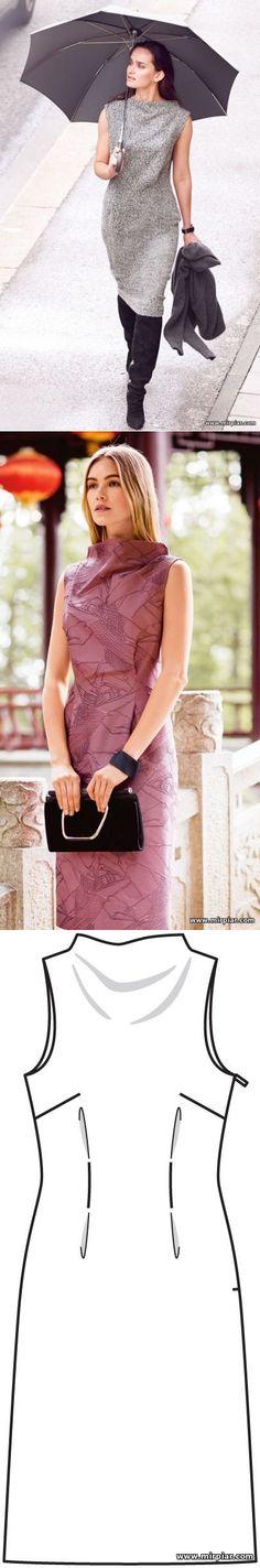 free pattern, платье-футляр, pattern sewing, выкройки платьев, выкройки скачать, шитье, готовые выкройки, ПЛАТЬЯ, драпировка, cкачать, MirPiar.com