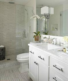 modern white small bathroom design idea