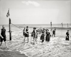 "Coney Island, New York, circa 1905. ""Surf bathing."""