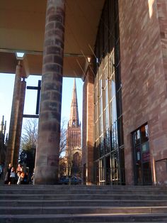 New Cathedral - Coventry Cathedral, Bournemouth, Place Of Worship, Far Away, City Life, Places Ive Been, England, Dreams, Memories