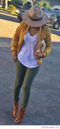 olive-pants-and-a-yellow-jacket