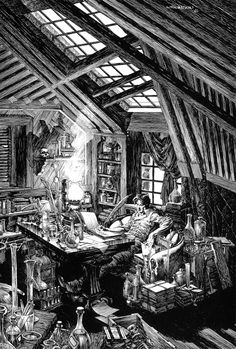 Bernie Wrightson from his illustrated FRANKENSTEIN. Web images cannot do the intense and amazing detail in these illustrations justice.