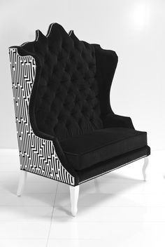 Our new Geometric Casablanca Double Wing Chair by ModShop Modern Furniture Stores, Deco Furniture, Unique Furniture, Home Furniture, Best Chair For Posture, Workspace Design, Cool Chairs, Chair Design, Home Accessories
