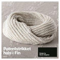 Dagens gratisoppskrift: Patentstrikket hals | Strikkeoppskrift.com
