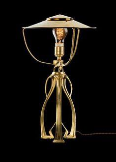 Cool Henry van de Velde Table lamp c Brass